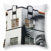 Face House, Calle Ocho Throw Pillow