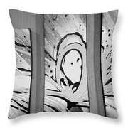 Face In Space B G I Throw Pillow