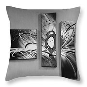 Face In Space B W 0 Throw Pillow