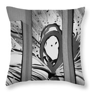 Face In Space B W I Throw Pillow
