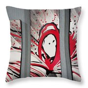 Face In Space I I Throw Pillow