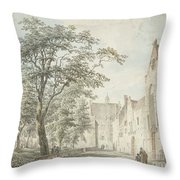 Face In The City Montfoort Throw Pillow