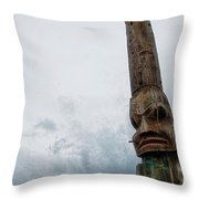 Face In The Clouds Throw Pillow