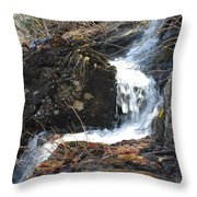 Face In The Falls Throw Pillow