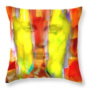 Face In The Flames Throw Pillow