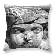 Face In The Fountain Throw Pillow