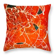 Face In The Mirror Abstract Painting Throw Pillow