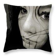 Face Lines Throw Pillow