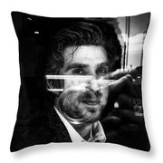 Face Of Corporate Throw Pillow