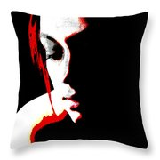 face of Courtney Throw Pillow