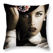 Face Of Dark Fashion Throw Pillow