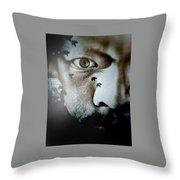 Face Of Impurity Throw Pillow