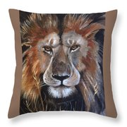 Face Of Majesty Throw Pillow