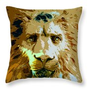 Face Of The Lion Throw Pillow