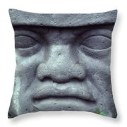 Face On Bali Throw Pillow