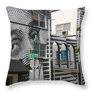 Face On House Throw Pillow