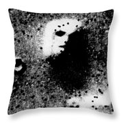 Face On Mars Throw Pillow