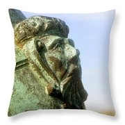 Face On The Cannon Throw Pillow