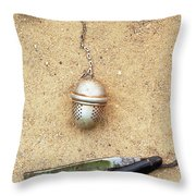 Face On The Sand Throw Pillow