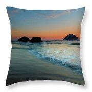 Face Rock Sundown Throw Pillow