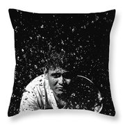 Face Splash Throw Pillow