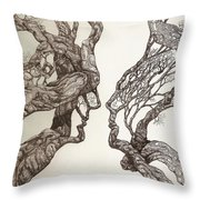 Face Tree 11 Throw Pillow