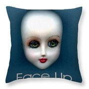 Face Up Throw Pillow