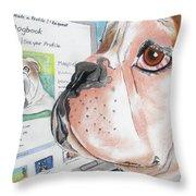 Facebook Dog Throw Pillow