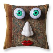 Facebook Old Book With Face Throw Pillow by Garry Gay