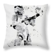 Faceless Enforcer Throw Pillow