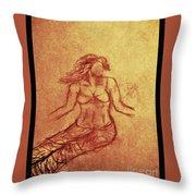 Faceless Mermaid Throw Pillow