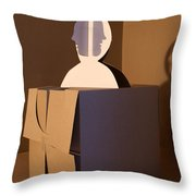 Faces 2 Throw Pillow