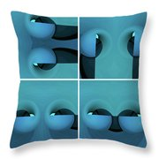 Faces Throw Pillow