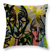 Weathered Friends Throw Pillow