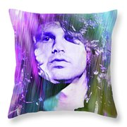 Faces Come Out Of The Rain Throw Pillow