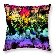 Tribes Throw Pillow