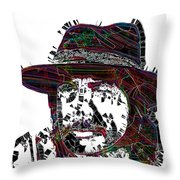 Faces Of Life 18 Charles Bronson Throw Pillow