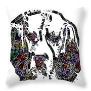 Faces Of Life 37 Beagle Color Throw Pillow