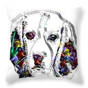 Faces Of Life 37 Beagle Throw Pillow