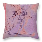 Faces Of Trivia Throw Pillow