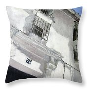 Fachada Andaluza Throw Pillow