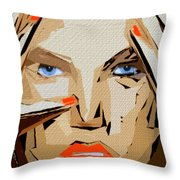 Facial Expressions Xix Throw Pillow