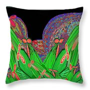 Facination For Cactus Plants And  Flower Throw Pillow