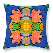Facing Realities Abstract Hard Candy Art By Omashte Throw Pillow