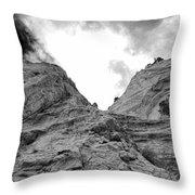 Facing Rock Throw Pillow