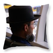 Facing The Modern World Throw Pillow