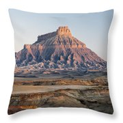 Factory Butte 0761 Throw Pillow