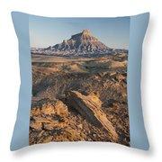 Factory Butte 0768 Throw Pillow