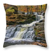 Factory Falls - Childs State Park Throw Pillow