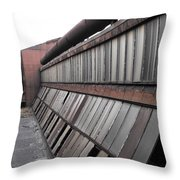 Factory Windows 2 Throw Pillow